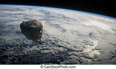 planète, dangereux, astéroïde, la terre, approchant