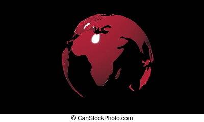 planète, disposition, tourner, arrière-plan noir, la terre, included, canal alpha