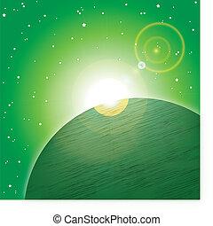 planète, espace vert