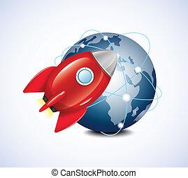 planète, fusée