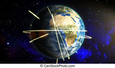 planète, global, reach., la terre