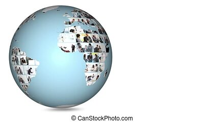 planète, globe, itself, tourner
