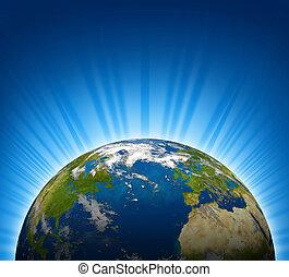 planète, globe mondial, la terre
