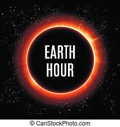 planète, illustration, day., vecteur, space., la terre, levers de soleil
