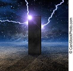 planète, inanimé, étrange, monolithe