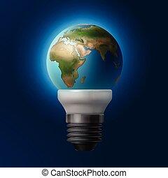 planète, intérieur, lampe