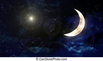 planète, lentille, lune, flamme, blanc