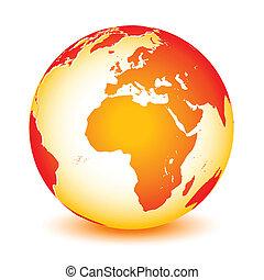 planète, mondiale, global, la terre, icône