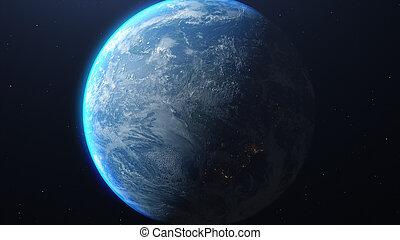 planète, nasa, image, éléments, meublé, ceci, earth.