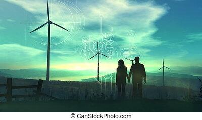 planète, notre, énergie, avenir, vert