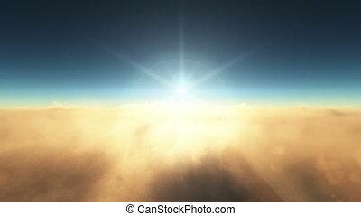 planète, orbite, levers de soleil