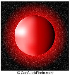 planète, rouges, espace