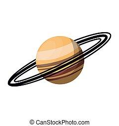 planète, saturne, manière, galaxie, laiteux