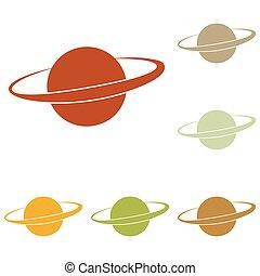 planète, signe, espace