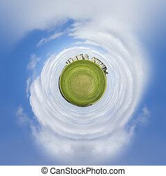 planète, stonehenge, minuscule