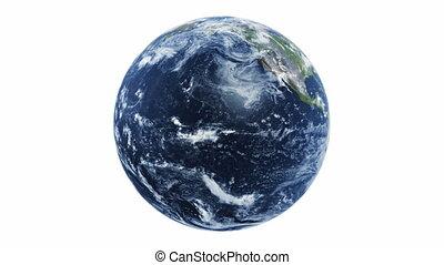 planète, terre tournant