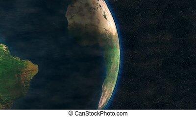 planète, tourne, orbite