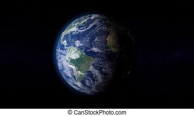 planète, tourner, atmosphère, 01, la terre