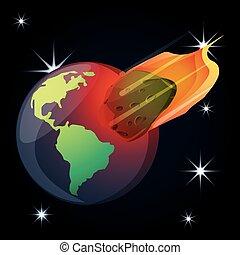 planète, univers, astéroïde, la terre