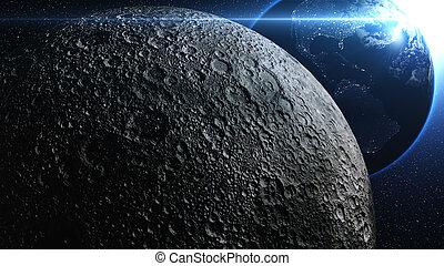 planète, univers, ou, space., la terre