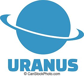 planète, uranus, icône