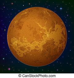 planète, vénus, espace