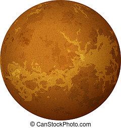 planète, vénus, isolé, blanc
