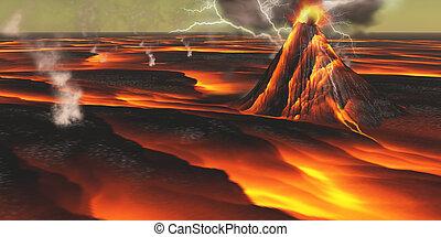 planète, volcanique