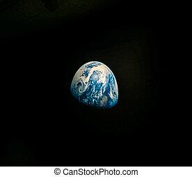 planète, vu, la terre, espace