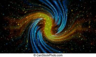 planètes, contre, rayon, rotation, voler