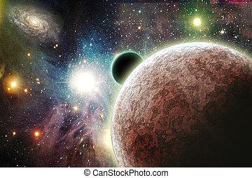 planètes, espace