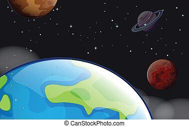 planètes, outerspace