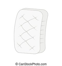 planície, branca, mattress.