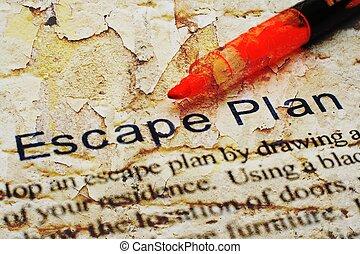 plan, évasion