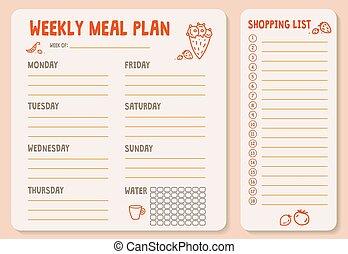 plan-01, varje vecka, måltiden