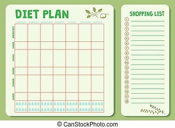 plan-02, varje vecka, kost