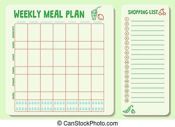 plan-02, varje vecka, måltiden