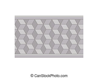 Plan a garden path of tiles. View from above. Vector illustration.