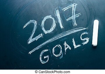 Plan a list of goals for 2017 on  blackboard