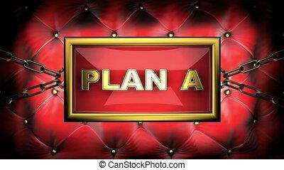 plan a on velvet background