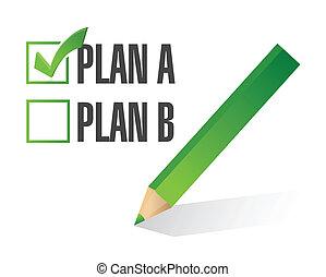 plan a selected. illustration design