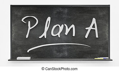 Plan A written on blackboard