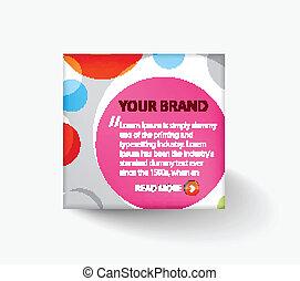 plan, advertis, design, schablone