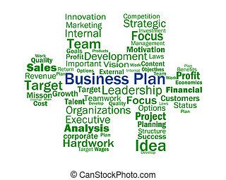 plan affaires, spectacles, vise, stratégie, plans, ou, planification