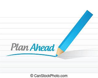 plan ahead message illustration design