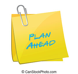 plan ahead post message illustration design
