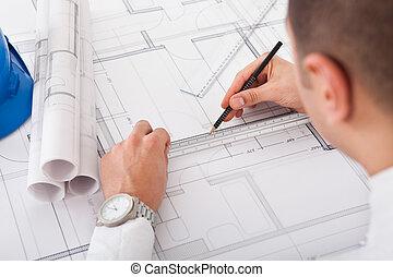 plan, architecte, conception, fonctionnement