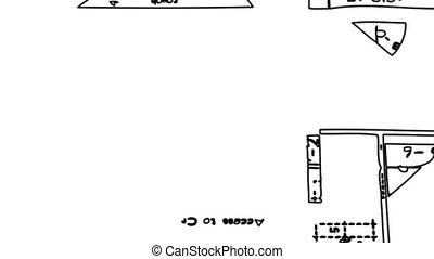 plan, architectural, dessin