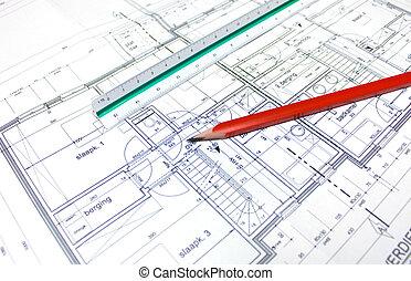 plan, arquitecto