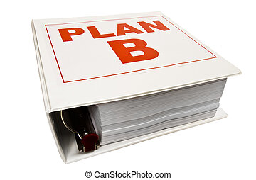 Plan B 3-Ring Binder. - Horizontal shot of a Plan B notebook...